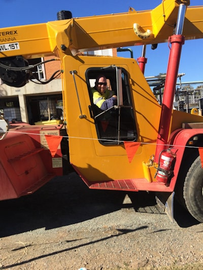 Andy Walker, from Walker Certification, operating a crane