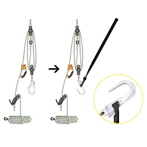 Rescue kit rope pulleys