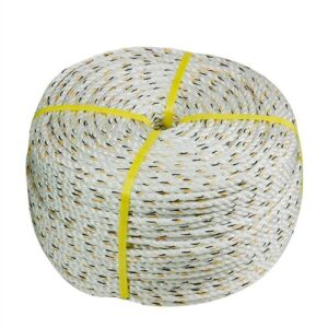 Coil of white rope