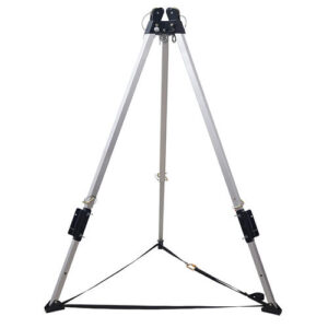 Tripod with double pulley