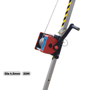 Hand winch for tripod